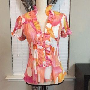 Shear summer blouse